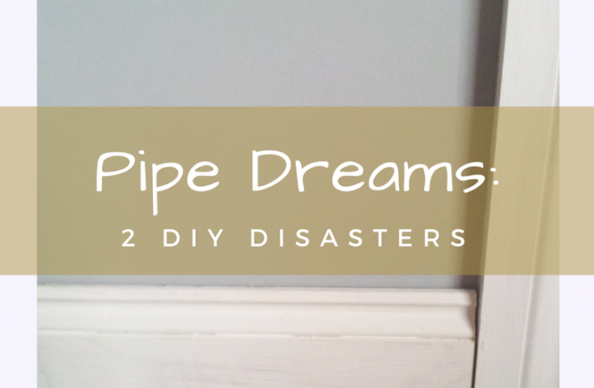 We've had two plumbing disasters this week, with radiator pipes and a kitchen tap. Click on the picture to read about our DIY misadventures!
