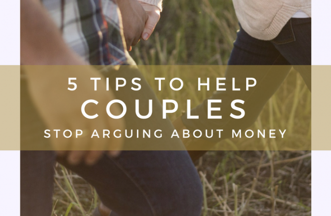 Do you find yourself arguing with your partner about money? You're not alone. Here are five tips on how to stop those arguments and manage your money together.