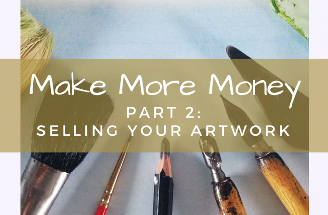 Make money by selling your artwork - read some quick tips on how and where to sell more.