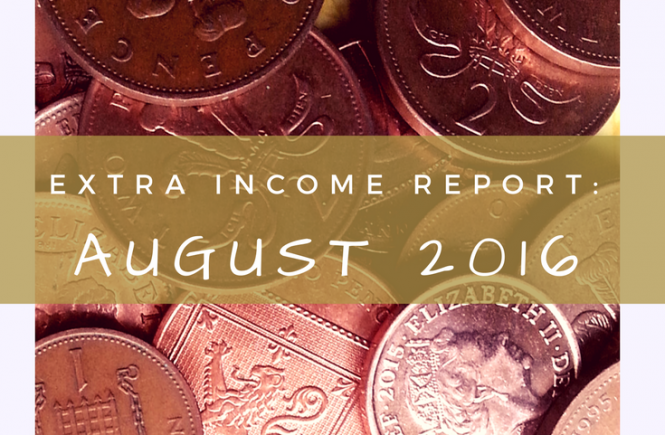 My extra income report for August 2016.