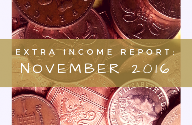 Extra income report for November 2016