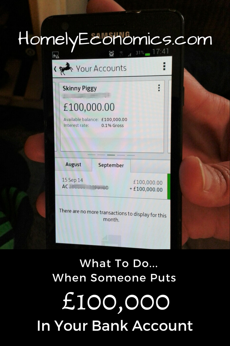 What to do when someone puts a payment into your account in error.