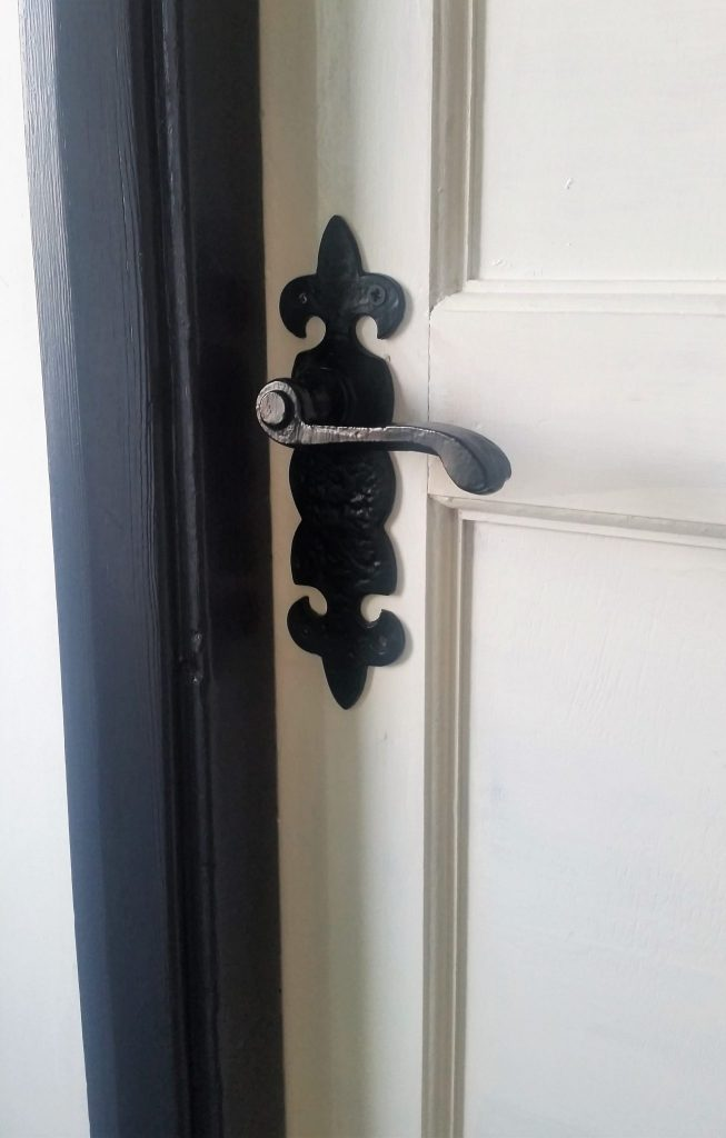 Click on the picture to read about our DIY door handle retrofit to a pair of reclaimed doors!