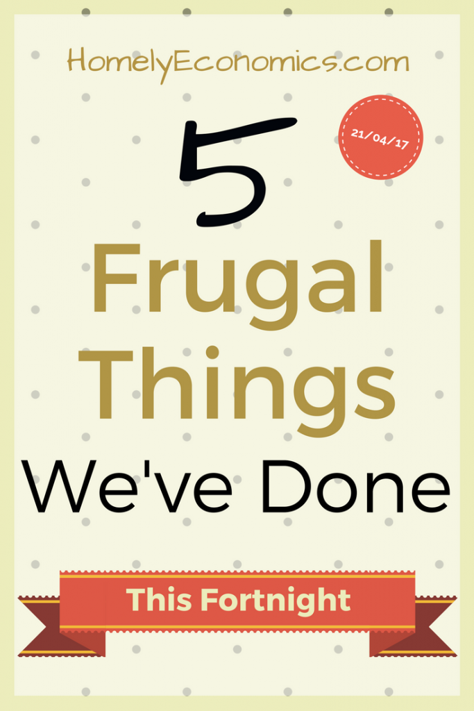 Click on the picture to read about the best 5 frugal things we've done over the last fortnight!