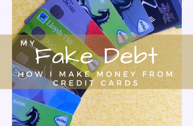 My Fake Debt - How I Make Money From Credit Cards. Click on the picture to read how I use credit cards to earn passive income.