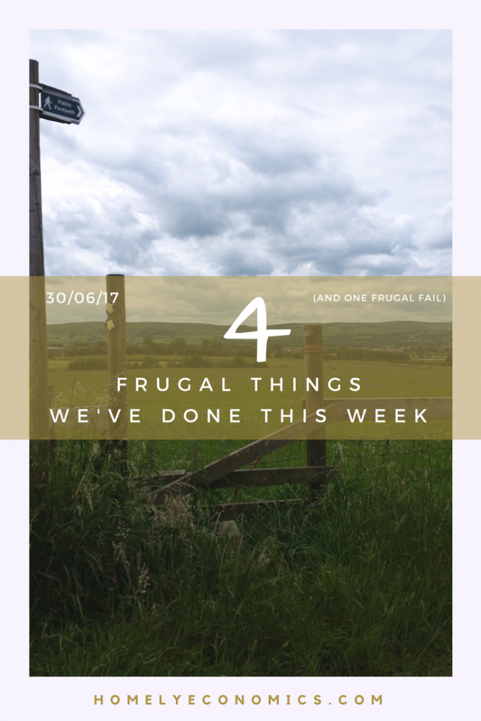 I might have managed a few frugal things this week, but I wanted to share what I got wrong - we can all learn lessons from our mistakes! Here are my four frugal things and a frugal fail for the 30th of June, 2017.