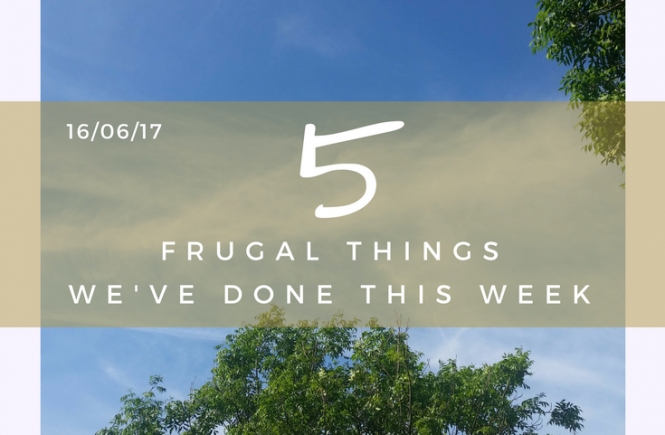 5 Frugal things we did this week - 16th June 2017.