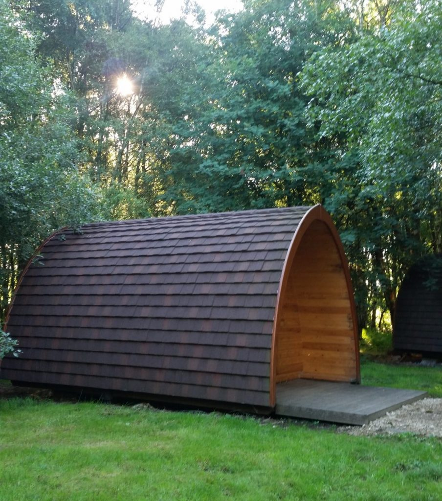 A camping pod at Woodhouse Farm in Yorkshire.