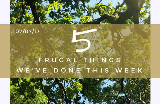 My pick of 5 frugal things we've done for the week - 7th July 2017.