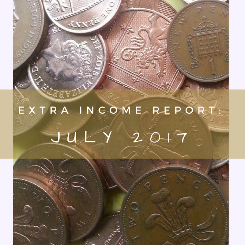 The Homely Economics Extra Income Report for July 2017.