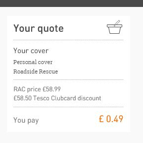 Our RAC cover for 49 pence - one of our 5 frugal things for this week!