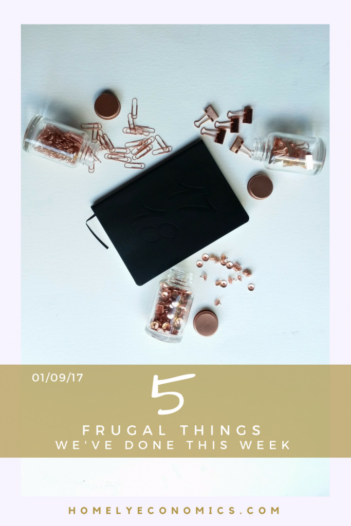 5 Frugal things we've done for 1st September 2017 - find out what we did to save money and treat ourselves for less.