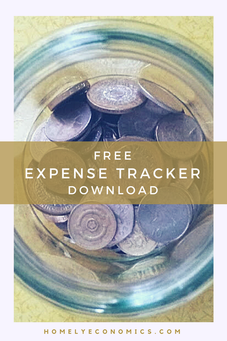 Download your free expense tracker from Homely Economics!