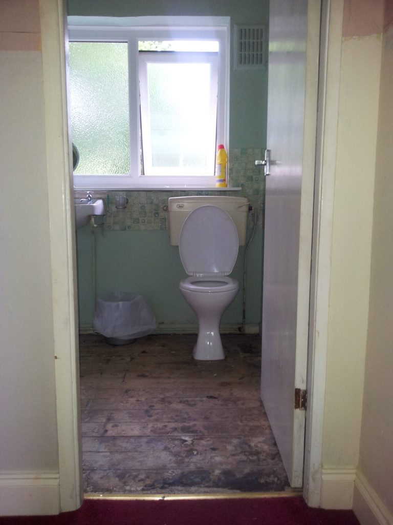 Our bathroom before renovating - you've got to see what we did to it!