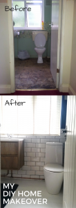 My DIY bathroom extreme makeover.