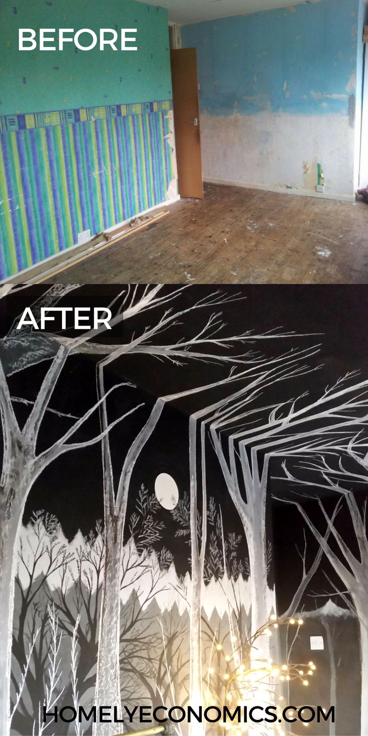 An extreme bedroom makeover, before and after!