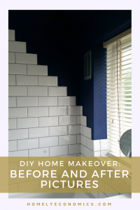 Here rare the before and after pictures of my DIY home makeover project! We've saved lots of money by doing our house renovation on our own - see what we've done!