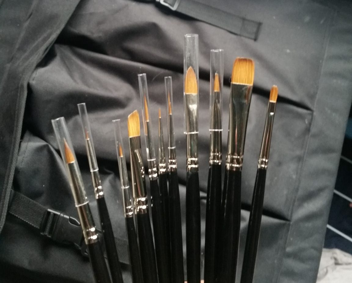 Pure sable brushes.