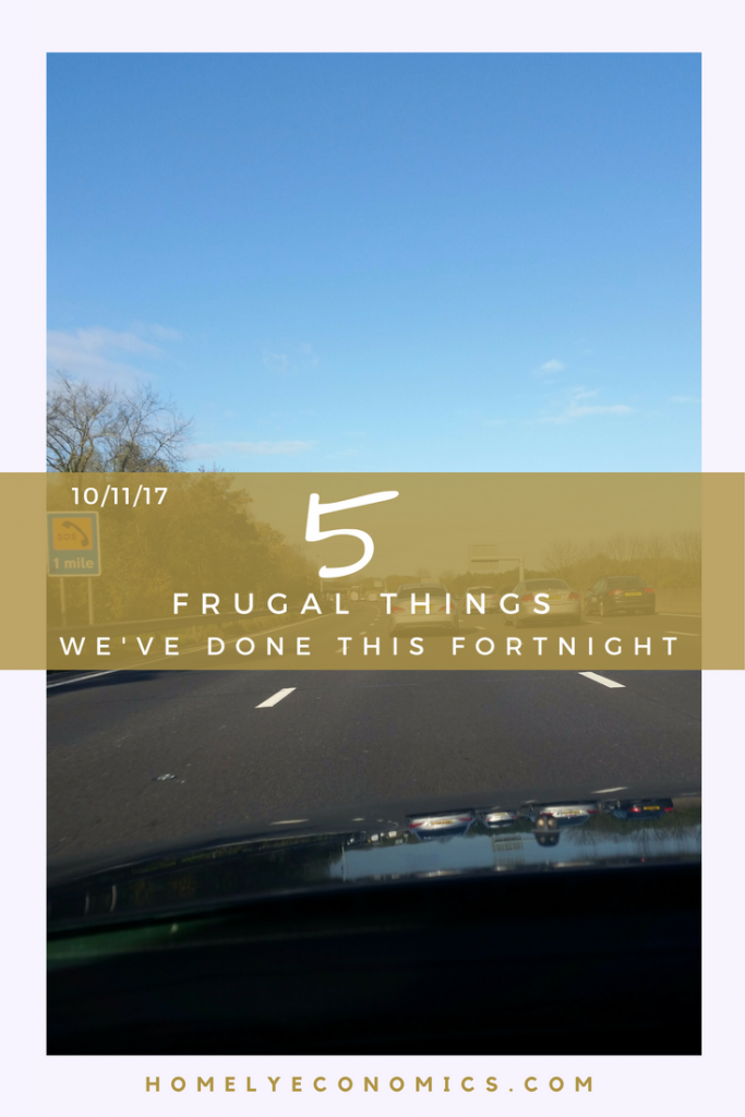Here are five frugal things that we've done this fortnight, including a DIY tip from our friends!