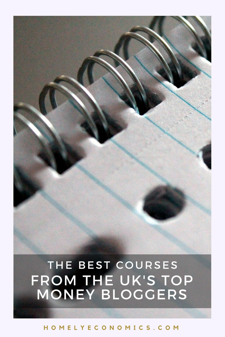 The best courses from UK money bloggers - from personal finance and debt to food and art!