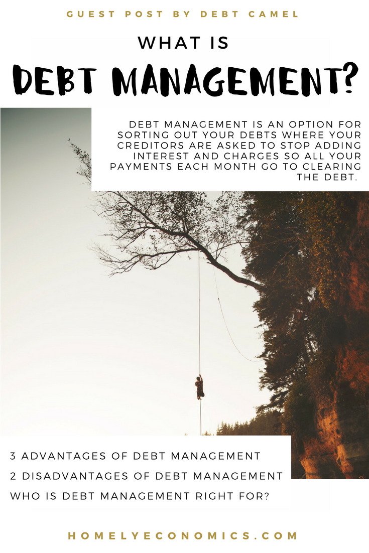 What is debt management? This guest post by Sara from Debt Camel looks at what debt management is and who it's for.
