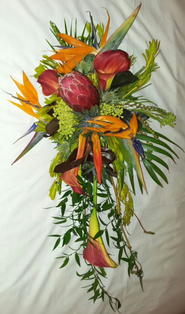 Strelitzia wedding bouquet