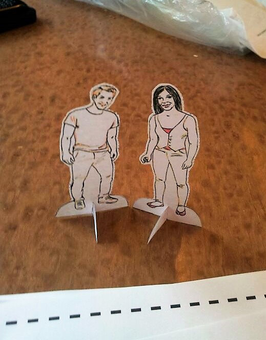 Paper doll prototypes for my wedding invitations