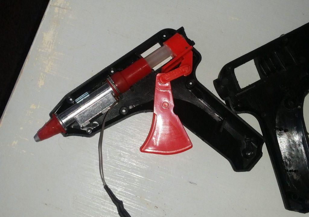 Inside a glue gun.