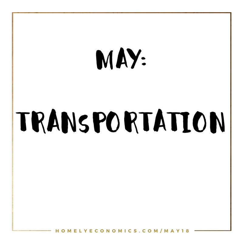 This month's theme is transportation - come back to find tips for cutting the cost of driving and commuting.