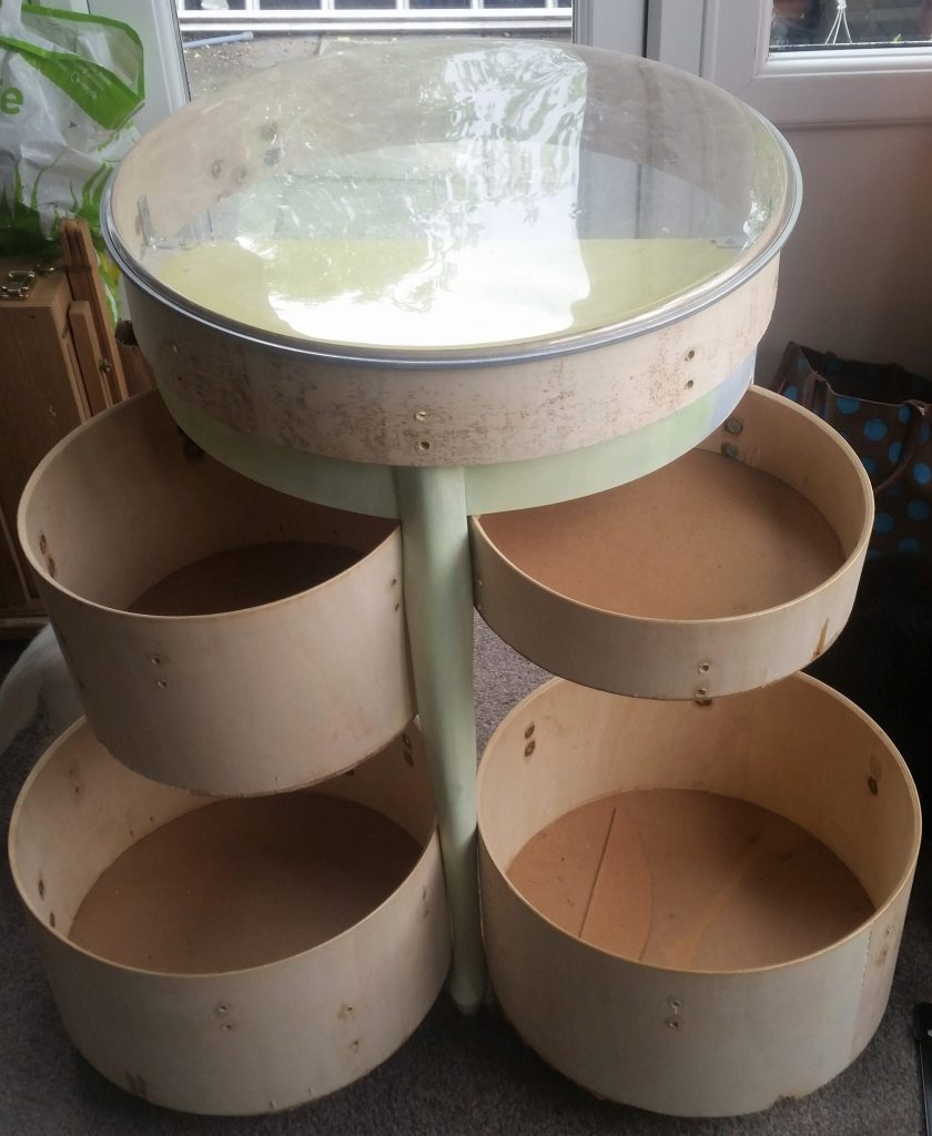 Frankenfurniture - my upcycled drum kit work in progress.