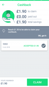 Green Jinn cashback app