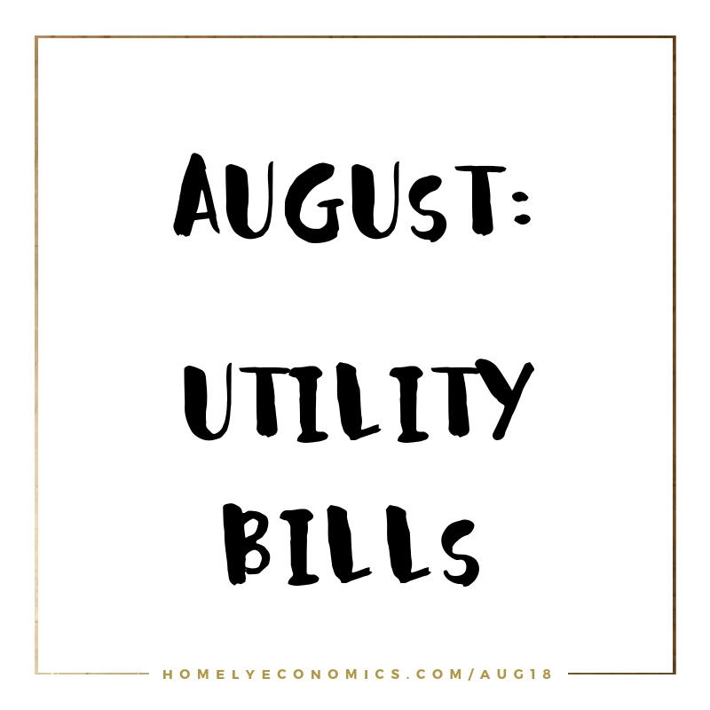 August's theme: utility bills