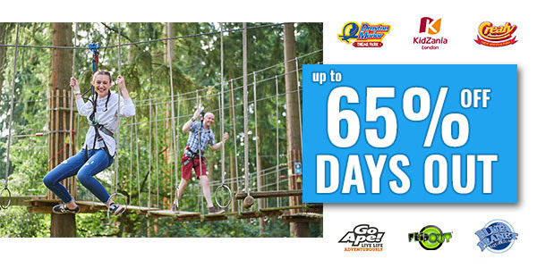 Kids Pass 65% off days out