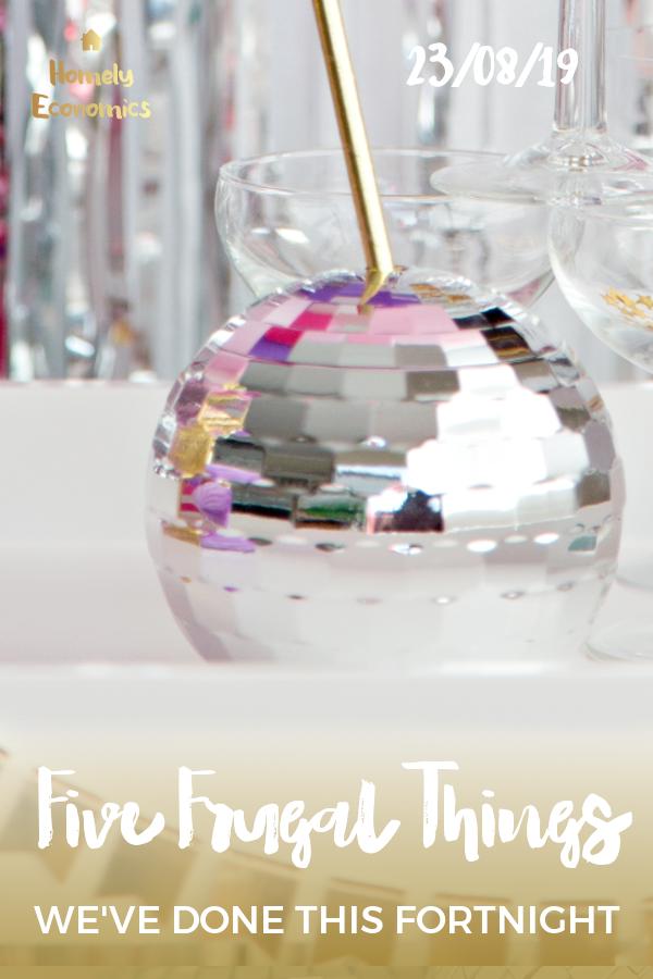 Five frugal things 23/08/19