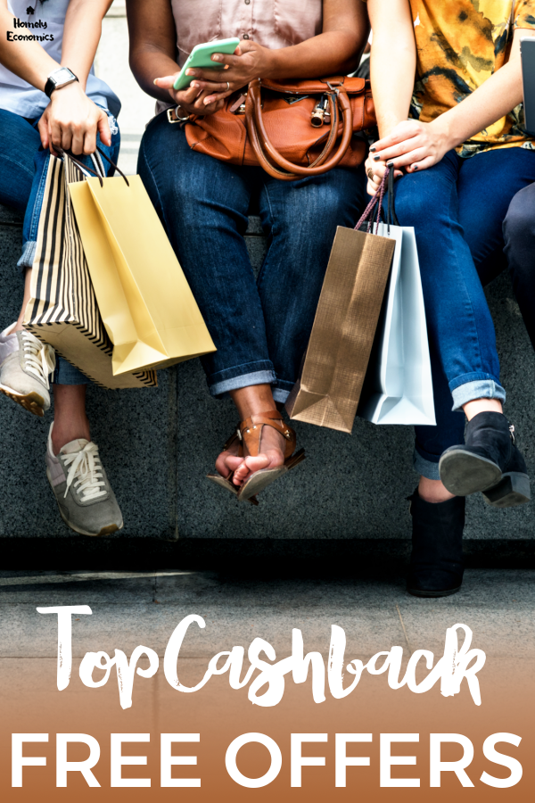 TopCashback new member offers 2020